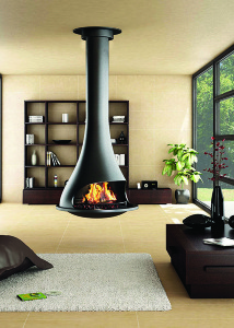 TATIANA 997   suspended central fireplace (pivot as option)